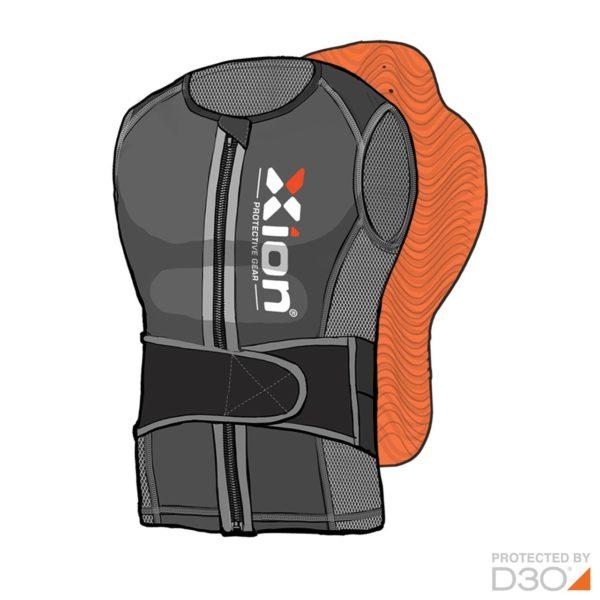 xion-backpad-vest-freeride-junior-sketched-front